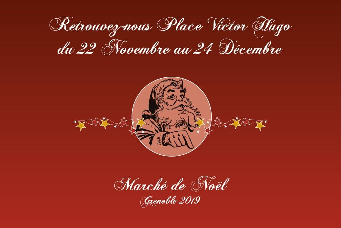 Marché de Noël du 22/11 au 24/12 - Grenoble place Victor Hugo